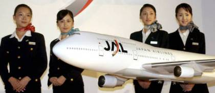 JAL flight attendants